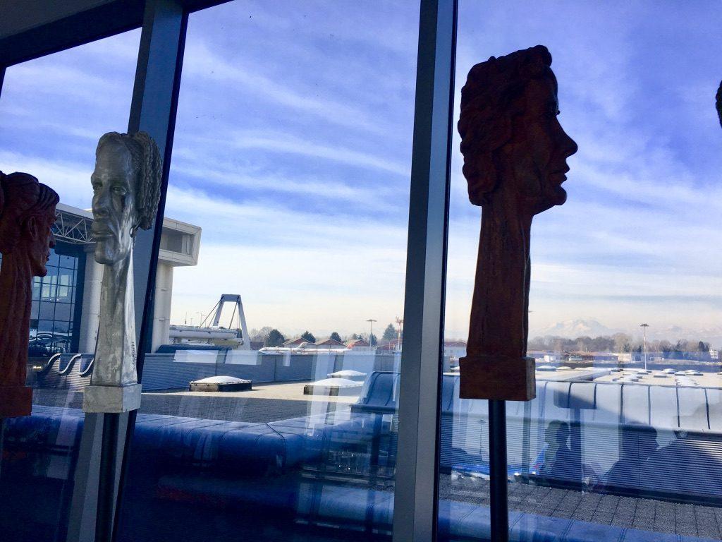 イタリアミラノのマルペンサ空港から見える景色