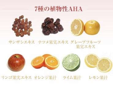 ビューティーモールピールローションに含まれる7種の植物性AHA
