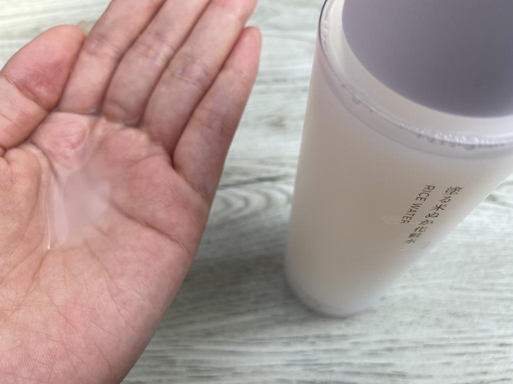 サラッとしたテクスチャーが米一途化粧水の特徴